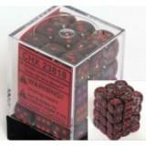 Chessex Tärningar 36st D6 12mm Smoke /w Red