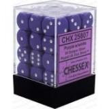 Chessex Tärningar 36st D6 12mm Purple w/white