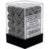 Chessex Tärningar 36st D6 12mm Dark Grey /w Black
