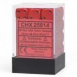 Chessex Tärningar 36st D6 12mm Red /w Black