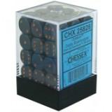 Chessex Tärningar 36st D6 12mm Dusty Blue w/copper