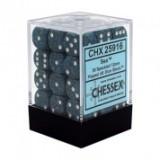 Chessex Tärningar 36st D6 12mm Sea