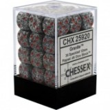 Chessex Tärningar 36st D6 12mm Granite