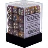 Chessex Tärningar 36st D6 12mm Festive Carousel w/white