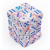 Chessex Tärningar 36st D6 12mm Festive Pop Art /blue