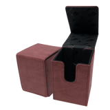 UP - Suede Collection Alcove Flip Deck Box - Ruby