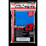 KMC Standard Sleeves - Super α (Alpha) Blue (80 Sleeves)
