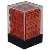 Chessex Tärningar 36st D6 12mm Orange /w Black