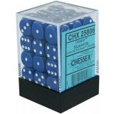 Chessex Tärningar 36st D6 12mm Blue w/white