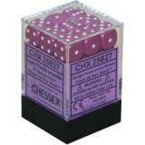 Chessex Tärningar 36st D6 12mm Light Purple /w White
