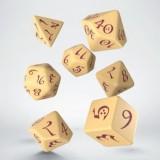 Classic RPG Beige & burgundy Dice Set (7)