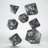 Classic RPG Smoky & white Dice Set (7)