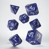Classic RPG Cobalt & white Dice Set (7)