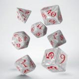 Classic RPG Pearl & red Dice Set (7)