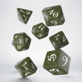 Classic RPG Olive & white Dice Set (7)