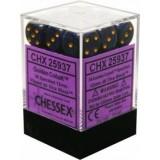 Chessex Tärningar 36st D6 12mm Golden Cobalt