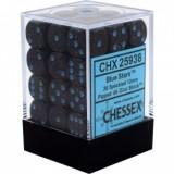 Chessex Tärningar 36st D6 12mm Blue Stars