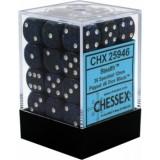 Chessex Tärningar 36st D6 12mm Stealth