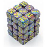 Chessex Tärningar 36st D6 12mm Festive Mosaic/yellow