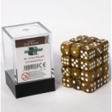 Blackfire Dice Cube – 12mm D6 36 Dice Set – Marbled Dark Brown