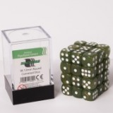 Blackfire Dice Cube – 12mm D6 36 Dice Set – Marbled Pearlized Green