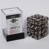 Blackfire Dice Cube – 12mm D6 36 Dice Set – Transparent Black
