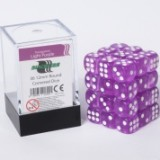 Blackfire Dice Cube – 12mm D6 36 Dice Set – Transparent Light Purple
