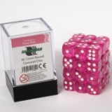 Blackfire Dice Cube – 12mm D6 36 Dice Set – Transparent Rose Red