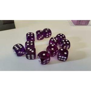 Chessex Tärningar 12st D6 16mm Purple /w White