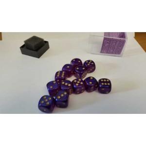 Chessex Tärningar 12st D6 16mm Royal Purple /w Gold