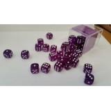 Chessex Tärningar 36st D6 12mm Purple /w White