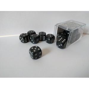 Chessex Tärningar 12st D6 16mm Ninja