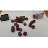 Chessex Tärningar 36st D6 12mm Black /w Red