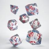 Classic RPG Translucent & blue-red Dice Set (7)