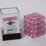 Blackfire Dice Cube – 12mm D6 36 Dice Set – Transparent Pink